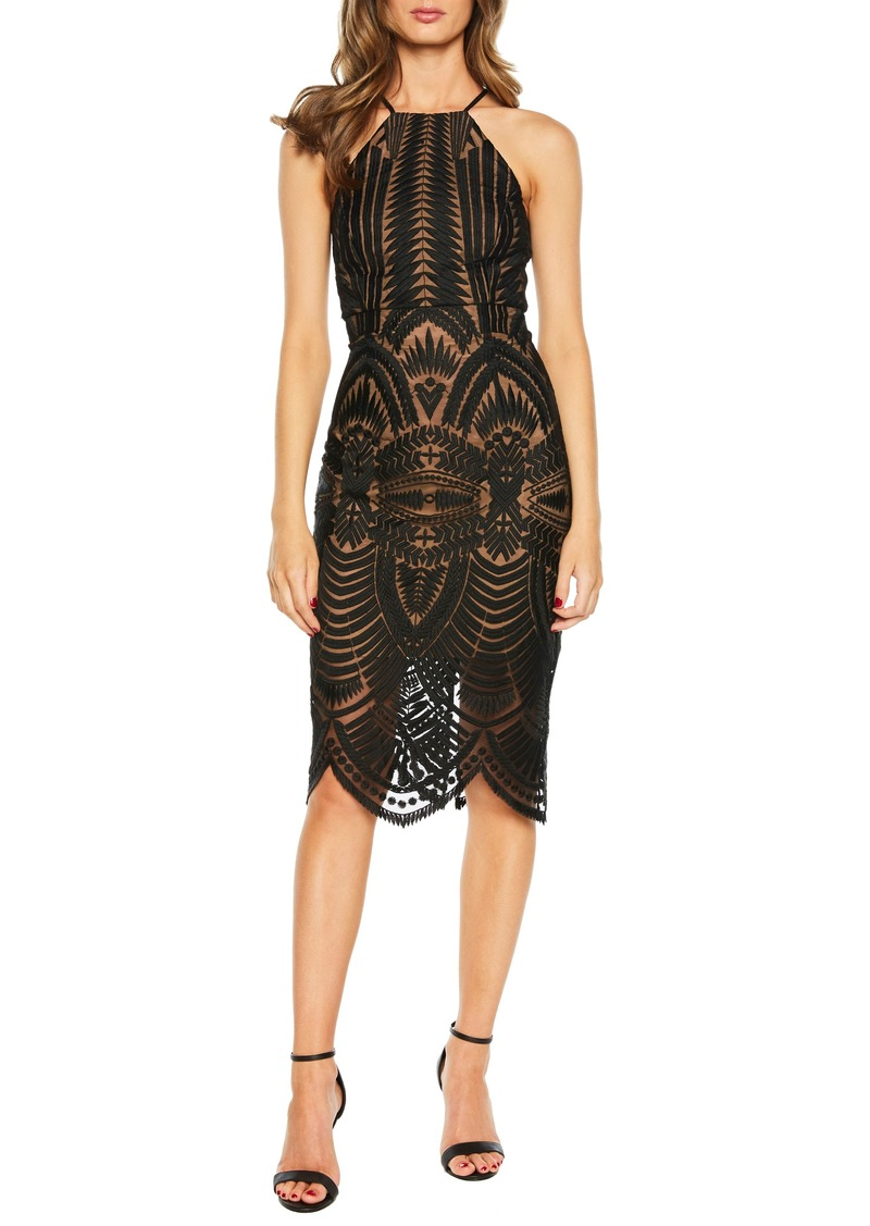 cba2a6969a Bardot Bardot Flora Halter Neck Sheath Dress (Nordstrom Exclusive ...