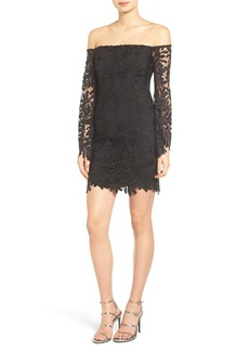 Bardot Flora Lace Off the Shoulder Dress