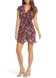 Bardot Floral Flip Faux Wrap Dress