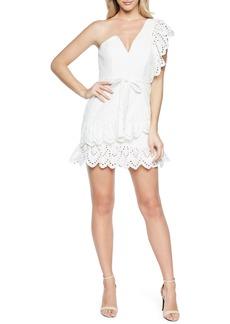 Bardot Frill Shoulder Minidress