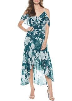 Bardot Garden Party Floral Cold Shoulder Maxi Dress