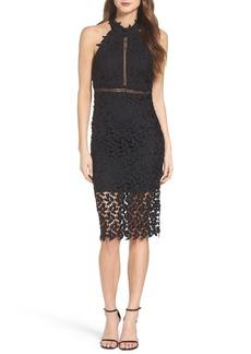 Bardot 'Gemma' Halter Lace Sheath Dress