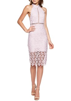 Bardot Gemma Halter Lace Sheath Dress