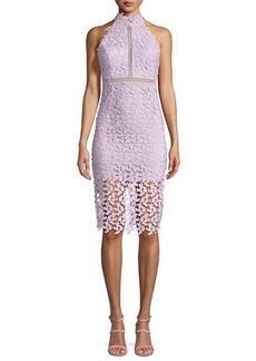 Bardot Gemma Sleeveless Halter Lace-Guipure Cocktail Dress