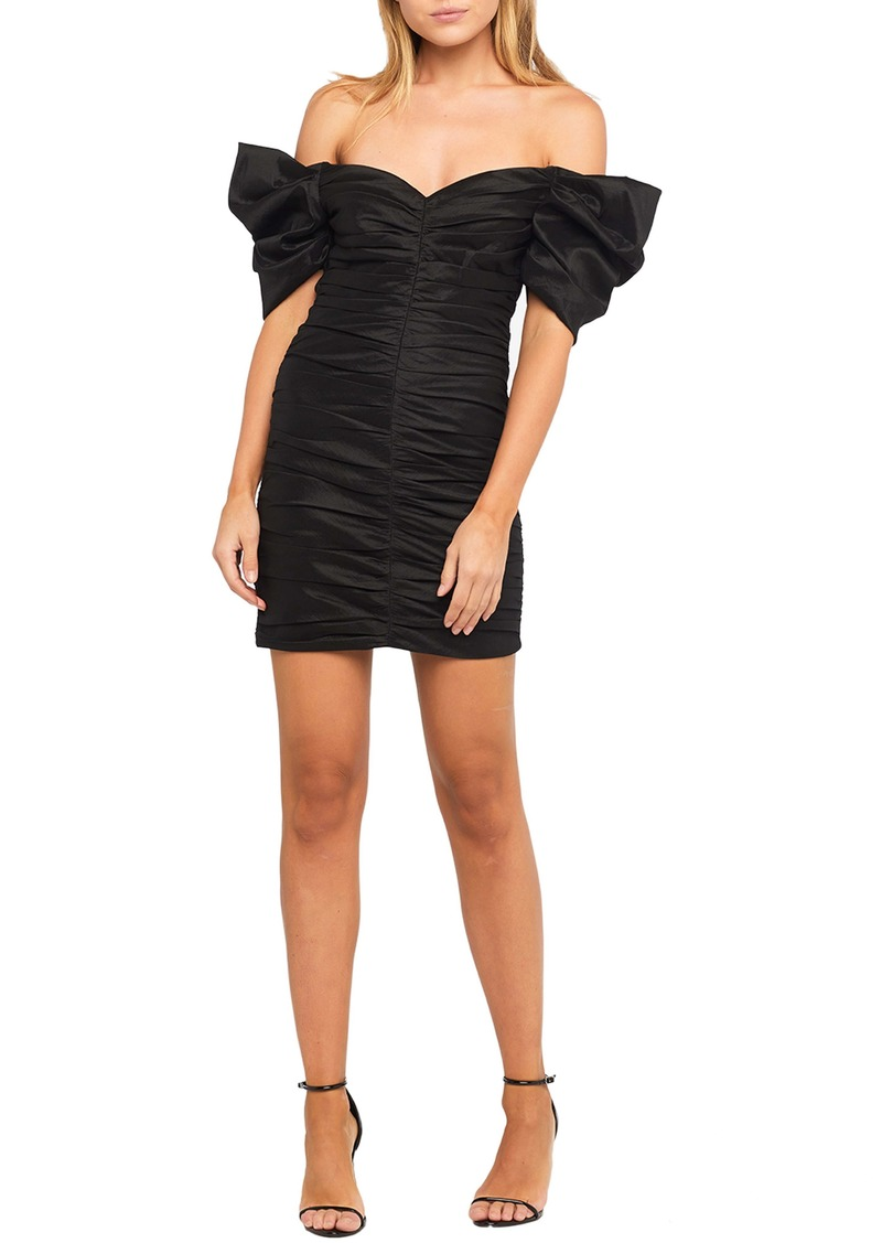 Bardot Issey Off the Shoulder Ruched Minidress