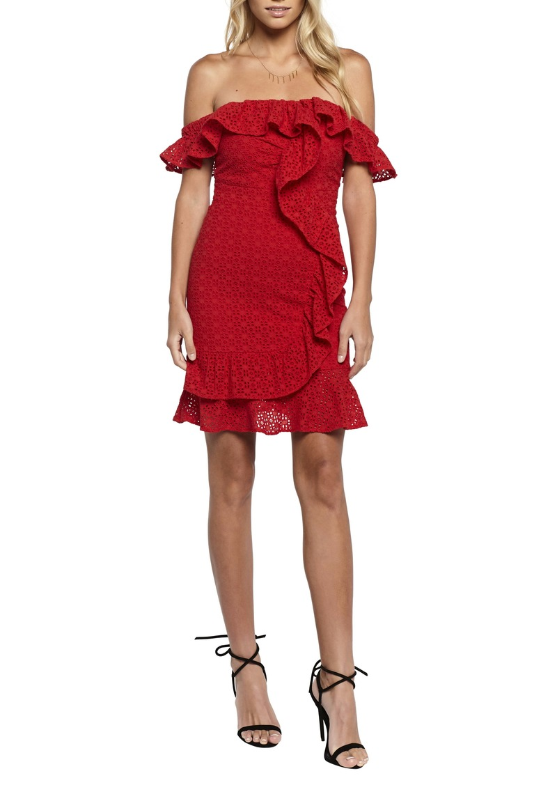 Bardot Jojo Flounce One-Shoulder Dress