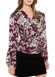Bardot Jolie Balloon Sleeve Wrap Blouse