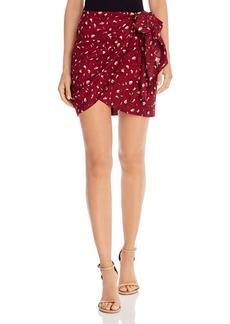 Bardot Kalia Leopard Print Faux-Wrap Skirt