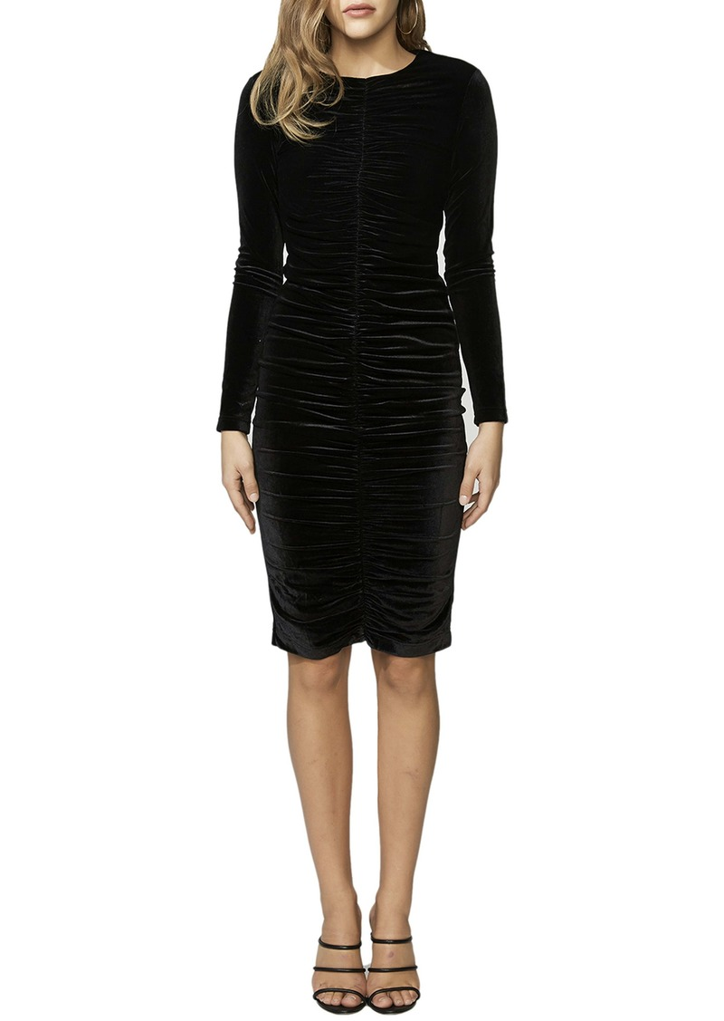 Bardot Karen Long Sleeve Velvet Dress