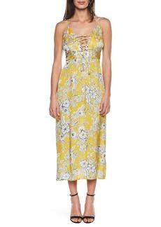 Bardot Karina Lace-Up Midi Dress