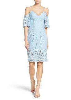 Bardot Karlie Cold Shoulder Lace Midi Dress
