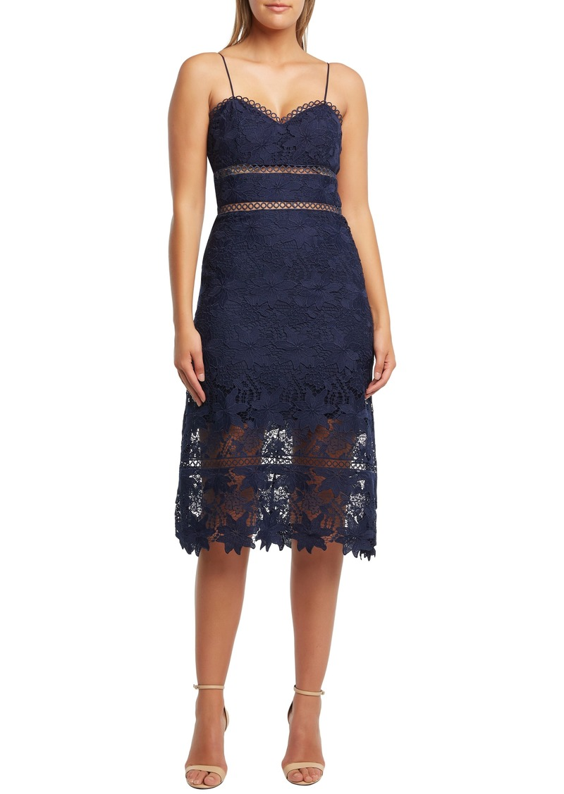 Bardot Koko Lace Tea Length Dress