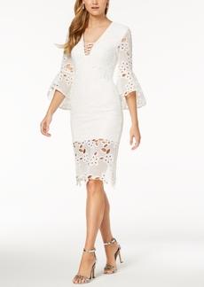 Bardot Lace Bell-Sleeve Dress