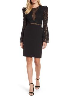 Bardot Lace Bodice Cocktail Dress