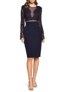 Bardot Lace Bodice Cocktail Dress