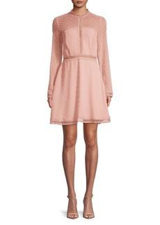Bardot Lace Fit-&-Flare Mini Dress