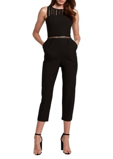 Bardot Lace-Trimmed Sleeveless Jumpsuit