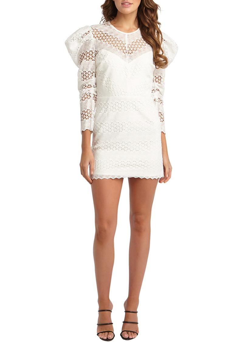 Bardot Lana Puff Sleeve Lace Minidress