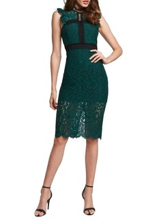 Bardot Latoya Highneck Flutter Lace Dress