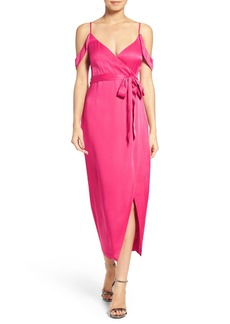 Bardot Leah Satin Midi Dress