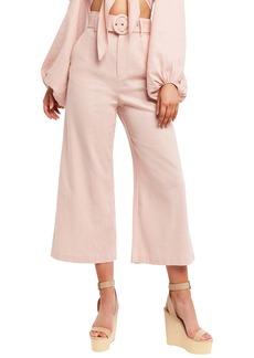 Bardot Lenny Belted High Waist Crop Wide Leg Pants