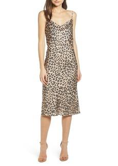 Bardot Leopard Cocktail Slipdress