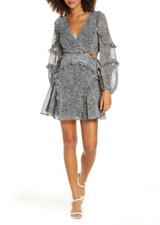 Bardot Leopard Long Sleeve Minidress