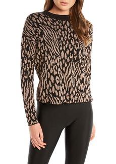 Bardot Leopard Pattern Twist Back Sweater