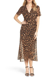 Bardot Leopard Print Wrap Dress