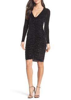 Bardot Leopard Velvet Mesh Body-Con Dress