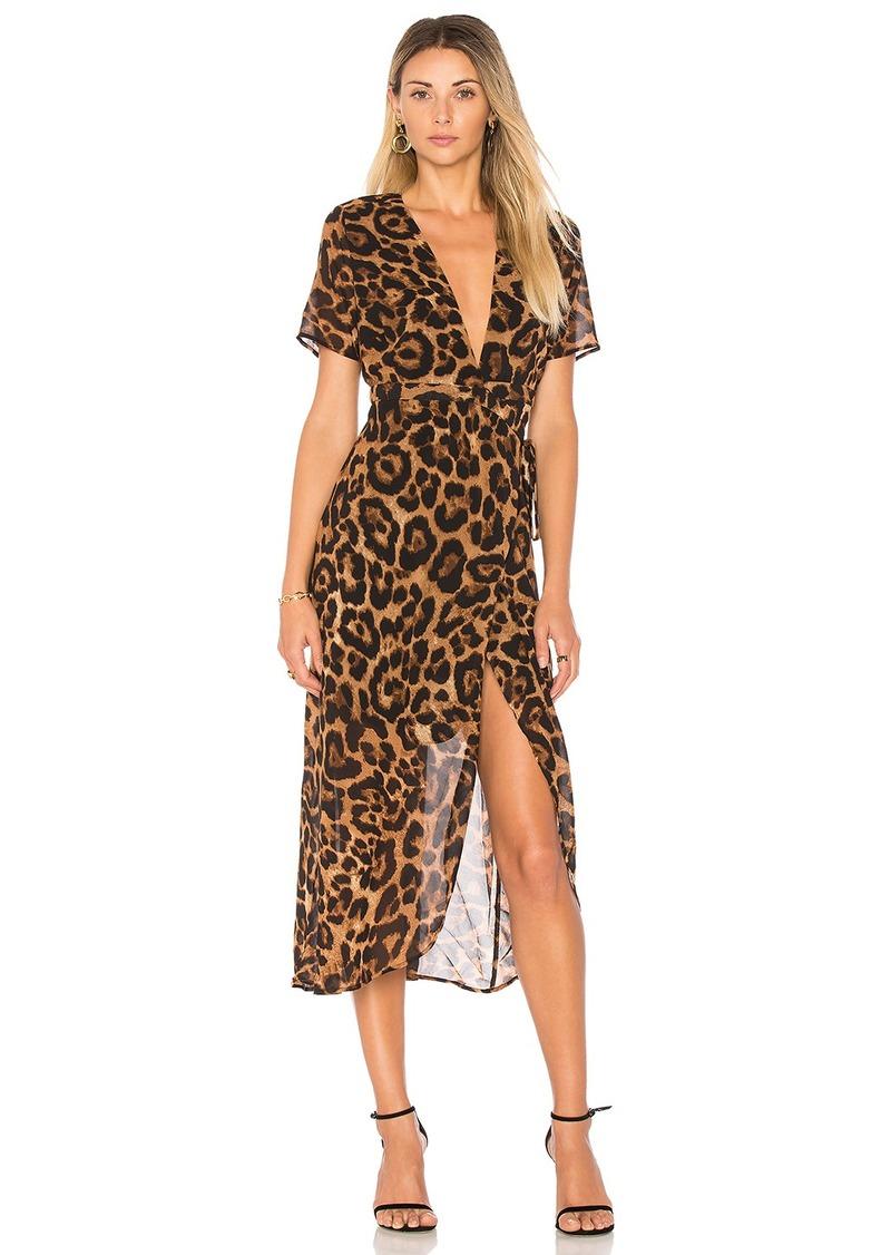 Bardot Bardot Leopard Wrap Dress Dresses