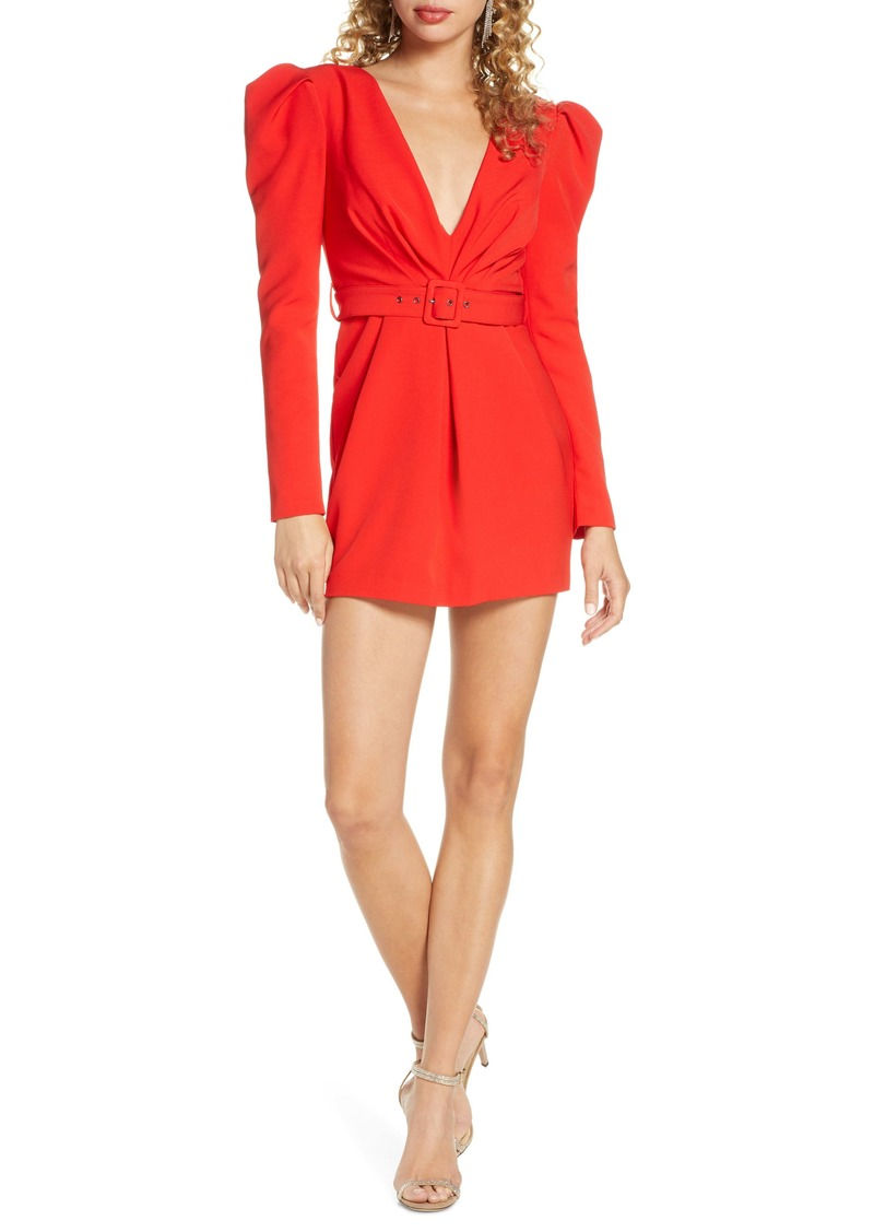 Bardot Letty Puff Long Sleeve Minidress