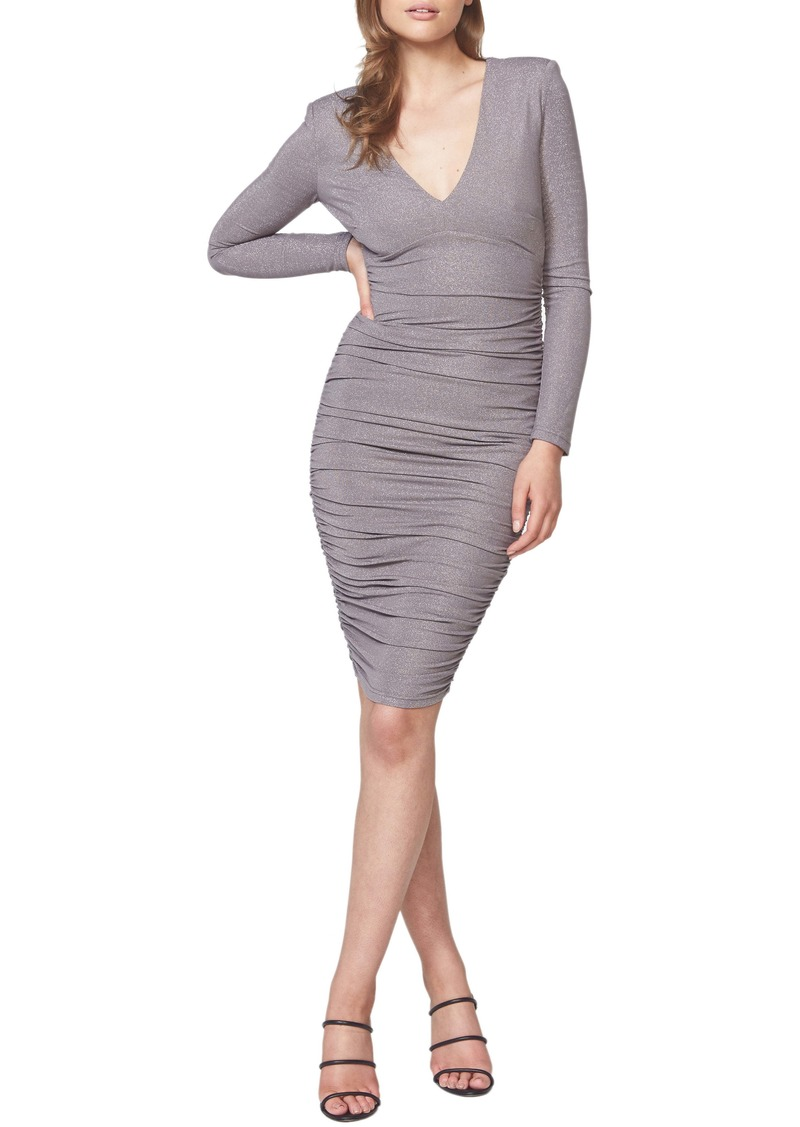 Bardot Lorena Metallic Long Sleeve Body-Con Dress