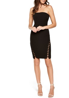Bardot Luca Lace-Up Cocktail Dress