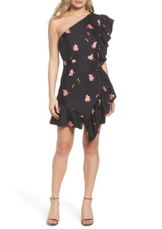 Bardot Lucia Frill One-Shoulder Dress