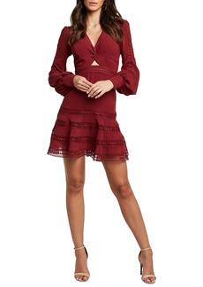 Bardot Luella Lace Trim Long sleeve Fit & Flare Dress