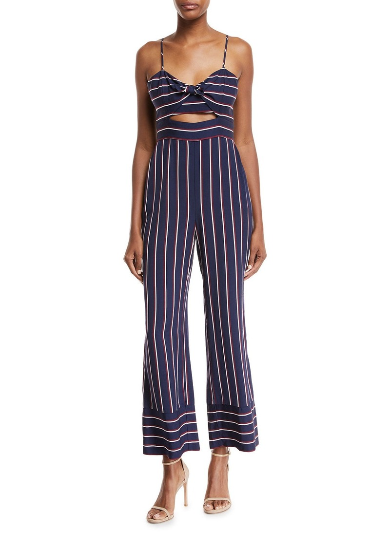 2a83e2512f7e Bardot Lulu Sleeveless Cutout Wide-Leg Striped Jumpsuit