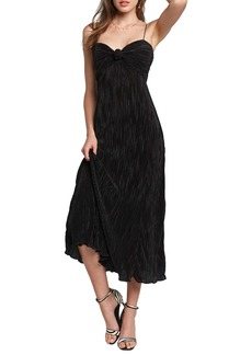 Bardot Maddie Plissé Midi Cocktail Dress