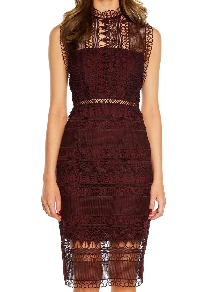71255e91 Bardot Gemma Halter Lace Sheath Dress Nordstrom | Saddha
