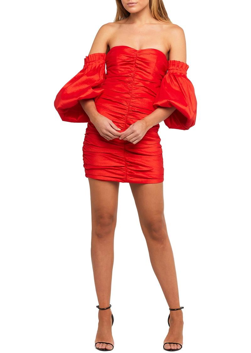 Bardot Marissa Off the Shoulder Ruched Minidress
