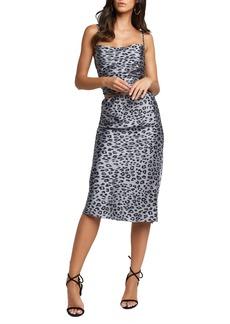 Bardot Mayah Leopard Satin Skirt