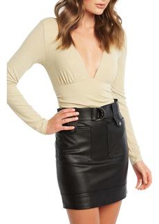 Bardot Metallic Long Sleeve Bodysuit