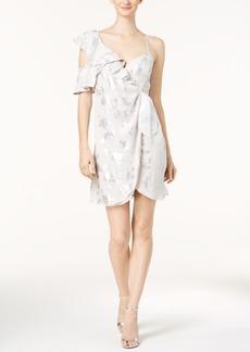 Bardot Metallic-Print Wrap Dress