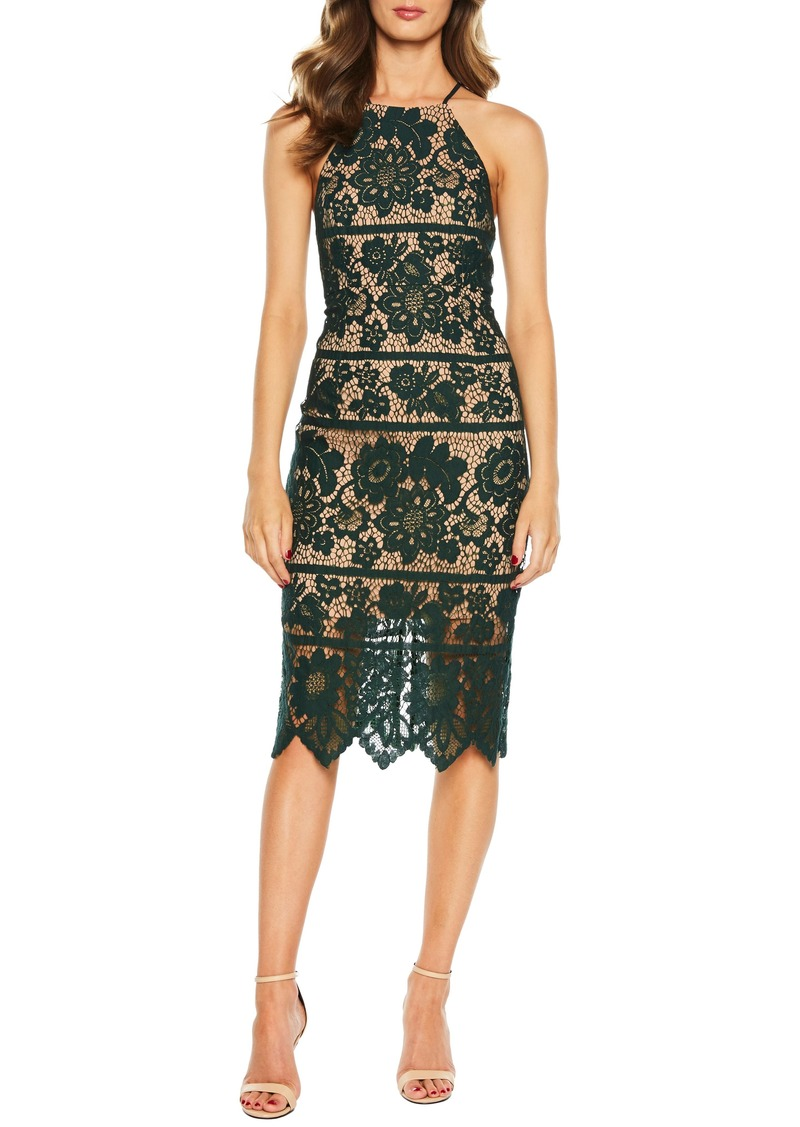 Bardot Mila Halter Lace Dress