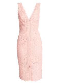 Bardot Morgan Front Slit Lace Cocktail Dress