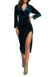 Bardot Morgan Velvet Side-Split Dress