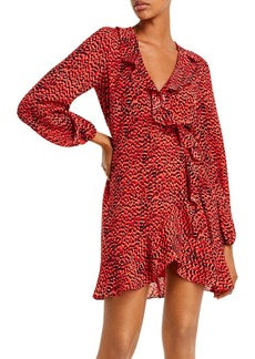Bardot Nora Leopard Print Wrap Dress