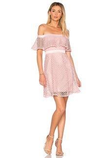 Bardot Off Shoulder Lace Dress in Pink. - size Aus 12 / US M (also in Aus 10 / US S,Aus 14 / US L,Aus 8 / US XS)