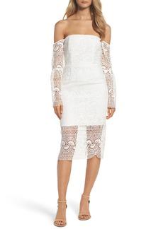 Bardot Off the Shoulder Sheath Dress