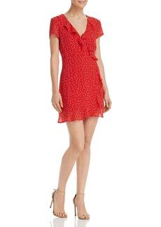 Bardot Open-Back Polka Dot Dress